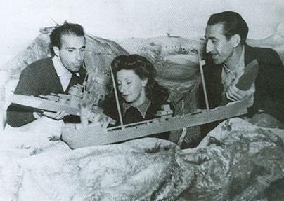 (Foto: Esteban Francés, Remedios Varo y Gerardo Lizarraga)